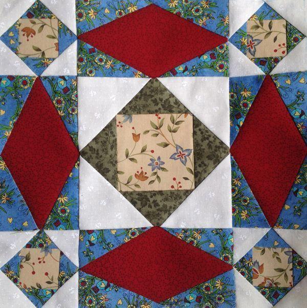 Tormenta marina. Tutorial gratuito de este bloque de patchwork. Paso a paso en la Escuela de Patchwork.