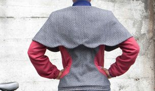 Cape Jacket Back Detail: Cycling Jackets, Cape Jacket, Capes Jackets