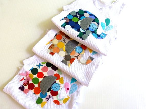 Elephants Elephants Elephants Gifts for Baby Baby by LilBirdieShop, $18.00