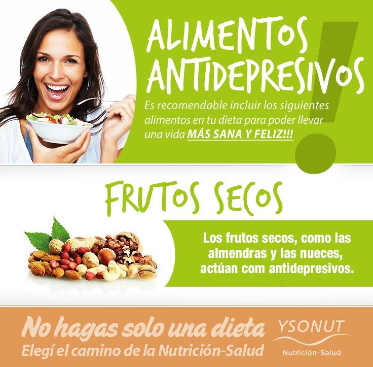ALIMENTOS ANTIDEPRESIVOS – Llevá una vida MÁS SANA Y FELIZ! FRUTOS SECOS – Los frutos secos, como las almendras y las nueces, actúan como antidepresivos. Más información sobre el Plan Nutricional de Aporte Normoproteico: http://ysonut.com.ar/ Teléfonos: (011) 4813-7768 / 0800-345-9766 de lunes a viernes de 9 a 19 hs. #alimentos #nutrición #ysonut #frutos #nueces #almendras