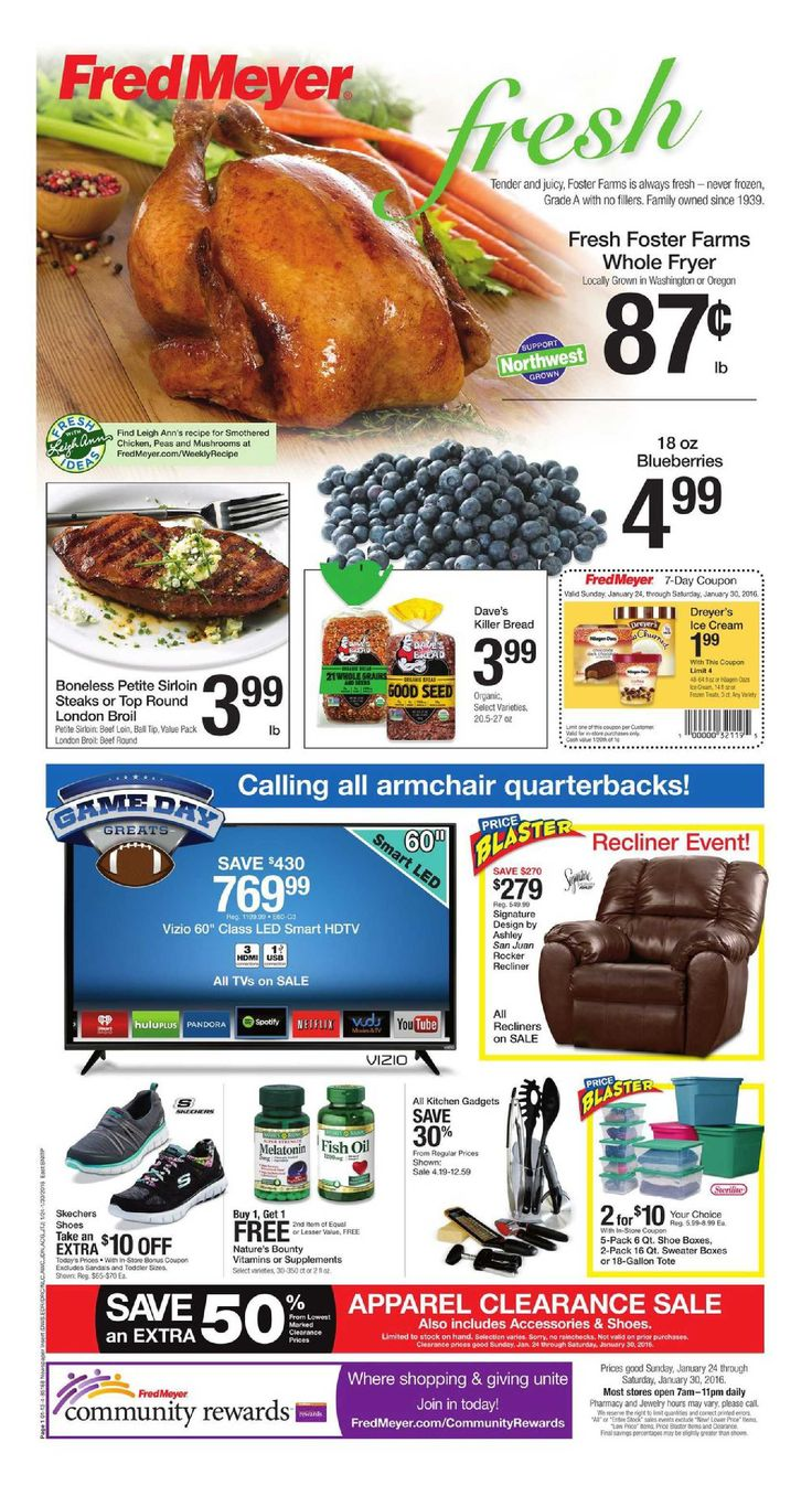 Fred Meyer Weekly Ad January 24 - 30, 2016…