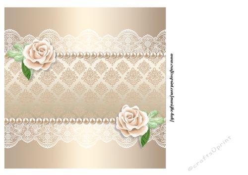 Cream Roses insert