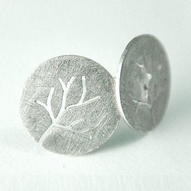 Trees - earrings, silver 925. http://kropinska.pl/bizuteria/drzewa/