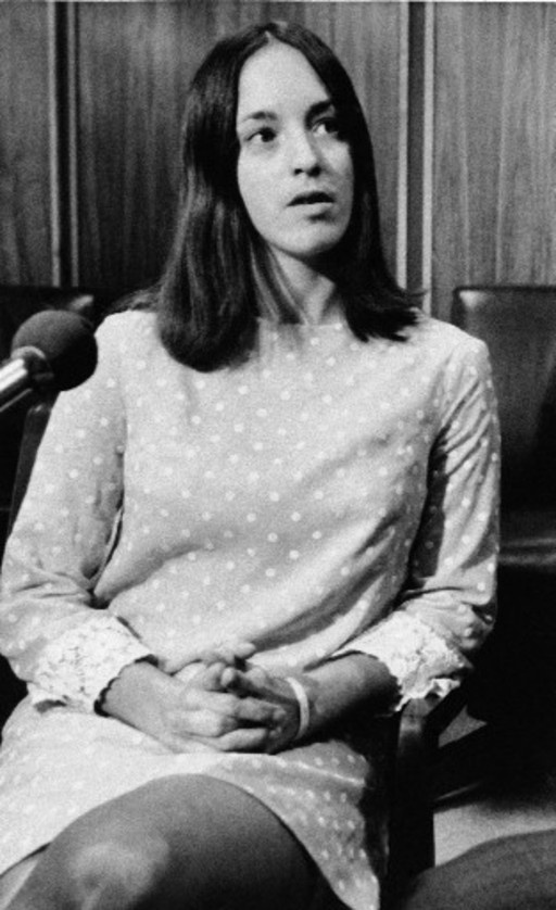 One of them members of the Manson Family, Susan Atkins. With no mercy, slaughtered Sharon Tate and her unborn child.