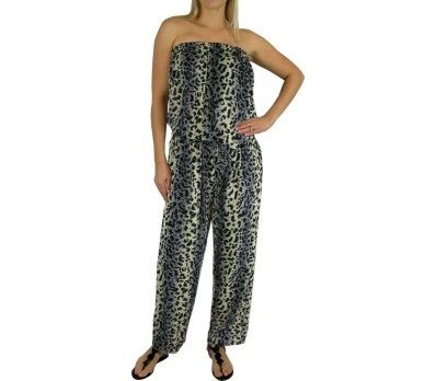 I'm selling Long Grey Elastic Waist Jumpsuit 2 sizes Animal Print - A$59.95 #onselz