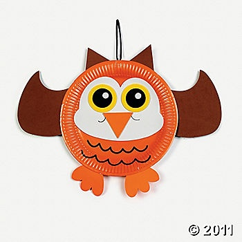 owl with paper plate