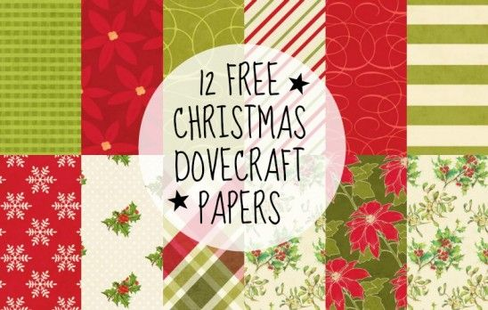 12 Free Christmas Dovecraft Papers! Download from PaperCrafter magazine.