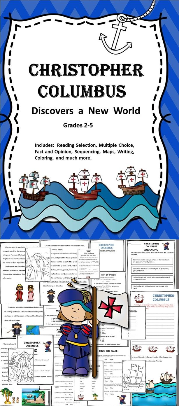 Christopher Columbus Discovers A New World is a great Columbus Day packet focusing on Christopher Columbus as an explorer. The product includes activities to teach students about the importance of this explorer and his impact on our history .