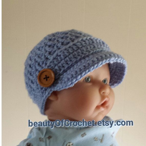 Newborn Baby boy newsboy Hat Baby Boy Hat by BeautyOfCrochet, $18.00