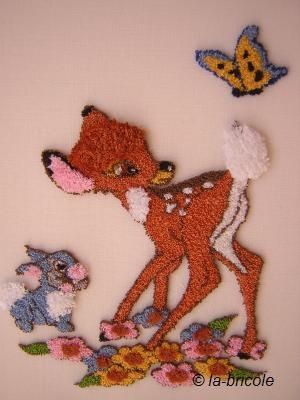 broderie au « punch needle »