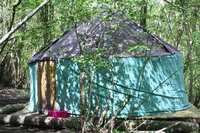 Woodside Yurt and Breakfast, Glamping near Robertsbridge, East Sussex