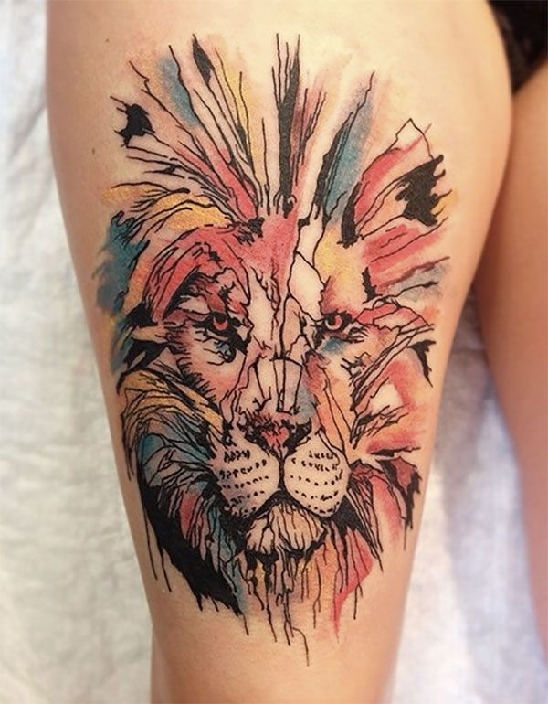 I love this Awesome Lion Tattoo