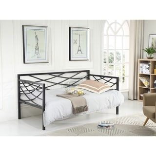 Shop for Hodedah Metal Cross-back Contemporary Daybed. Get free shipping at Overstock.com - Your Online Furniture Outlet Store! Get 5% in rewards with Club O! - 23614308