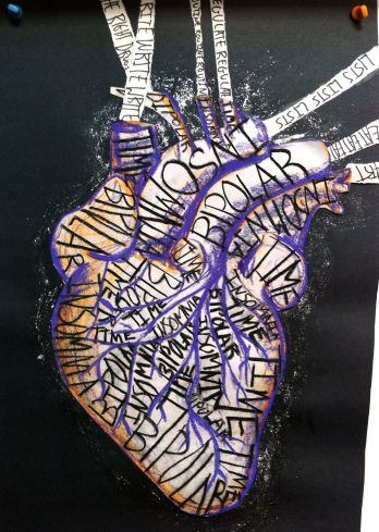 Heart oriented art therapy activity-- like!