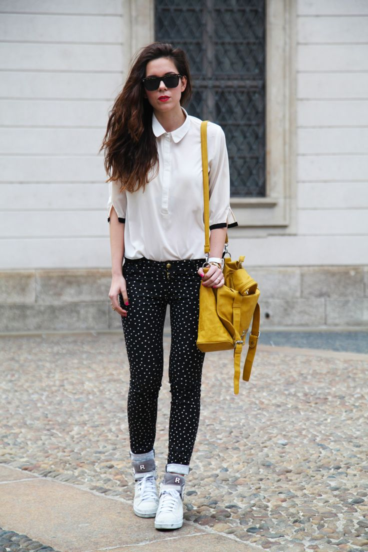 #fashion #fashionista @Irene Colzi pantaloni a pois