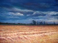 Cécile Houel D-The-windy-field,-pastel