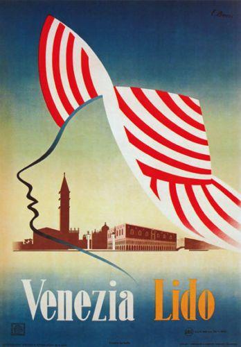 Tv64-VINTAGE-1940-039-s-A3-VENEZIA-LIDO-VENEZIA-ITALIA-Italiano-viaggio-POSTER-re-print
