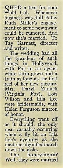 Photoplay - December 1929: Patsy Ruth Miller; Tay Garnett; Lois Wilson; Lila Lee; Helen Ferguson;