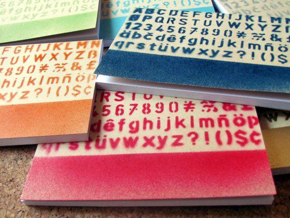 Alphabet Notebooks Trendy notebooks by PresentesdePortugal