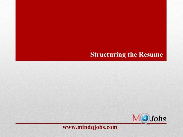 Más de 25 ideas increíbles sobre Resume structure en Pinterest - structure of a resume