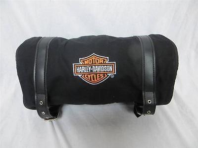 Harley Davidson Travel Bag Canvas Roll Up Kick Stand Plate Thermal Blanket | eBay $44.95