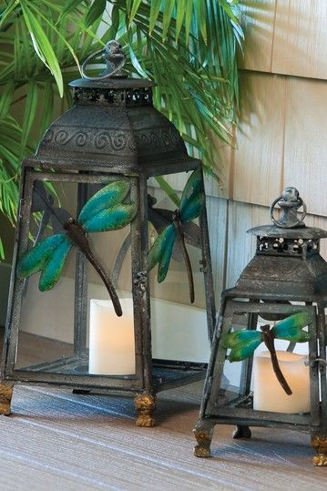 Dragon Fly Lantern - Set of 2 by Outdoor Garden: Bloom Collection on @HauteLook