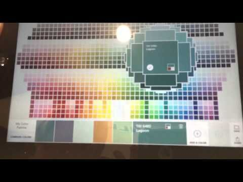 Color Snap App Makes Paint Choices Easy - Here is a fun App to help you experiment and visualize colors you want in your home. It's called - Color Snap by Sherwin Williams.   Here we see it in action. I checked it out at KBIS/IBS in Las Vegas and got to see how you can play with paint colors room by room and get inspiration from all around you to now change up the colors of your walls!