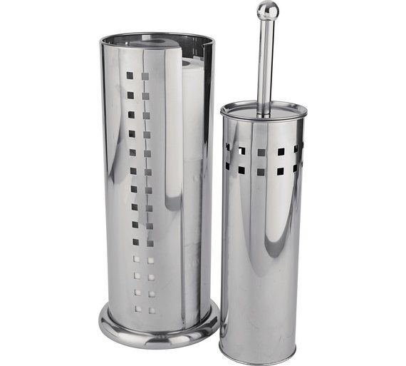Buy HOME Squares Stainless Steel Toilet Brush and Roll Holder at Argos.co.uk, visit Argos.co.uk to shop online for Bathroom sets and fittings, Bathroom accessories, Home furnishings, Home and garden
