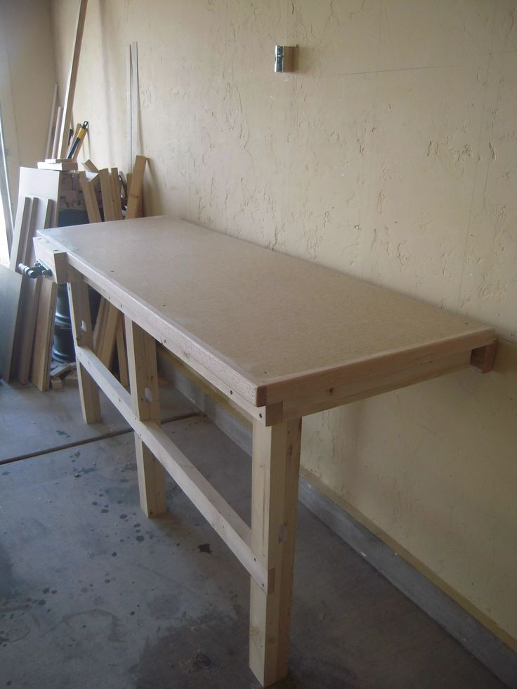 Fold Down Work Bench For My Garage Work Shop Imgur