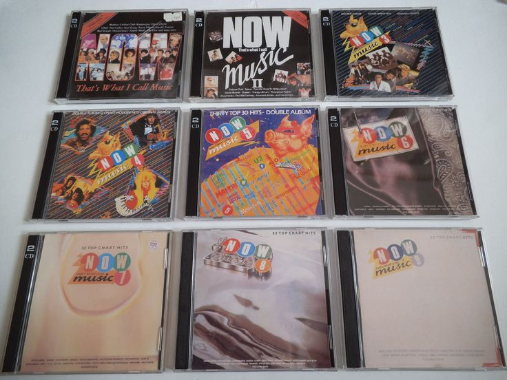 Now That's What I Call Music 1 - 9 CD fronts