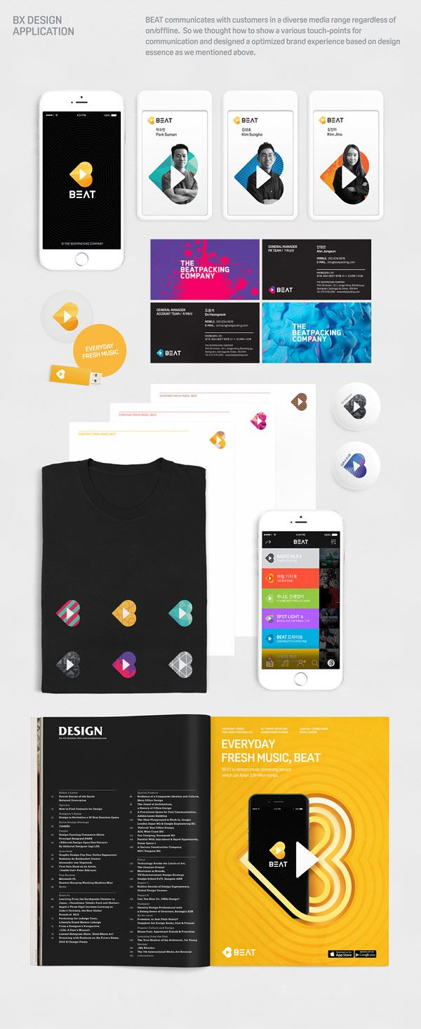 Design and brand experience by Plus X for BEAT, a free music streaming service.