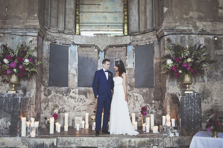 The Asylum London & Garden Museum Wedding Venues | Deep Jewel Pink & Gold Colour scheme | Gemy Maalouf Couture Gown from Morgan Davies Bridal | On Love and Photography | http://www.rockmywedding.co.uk/francesca-tony/