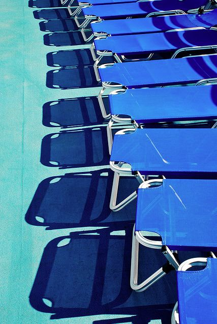 Blue Beach Chairs.