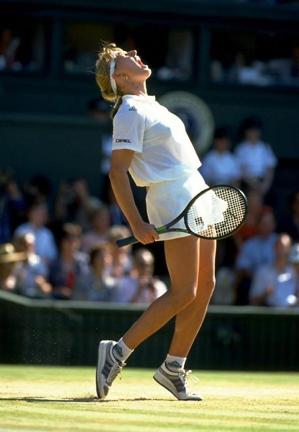 Steffi Graf Winning Wimbledon In 1991 Tennisworkout