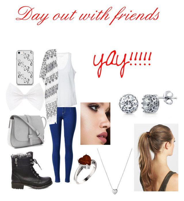 """""""Day out"""" by kami-6 ❤ liked on Polyvore featuring Zadig & Voltaire, Velvet, Steve Madden, Gap, Links of London, Anastasia Beverly Hills, France Luxe and BERRICLE"""