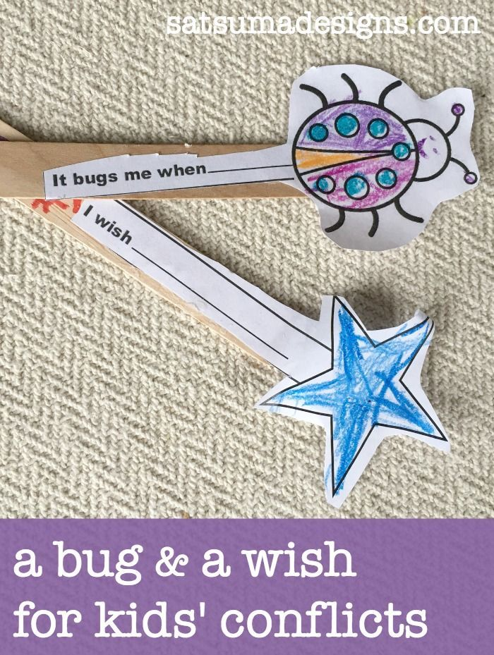 A Bug and A Wish Conflict Resolution for Elementary School Children Our school counselor recently employed a great method in class that she called A Bug and A W