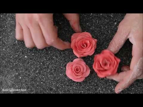 Easiest Fondant Rose in Minutes- tutorial by Rosie's Dessert Spot - YouTube