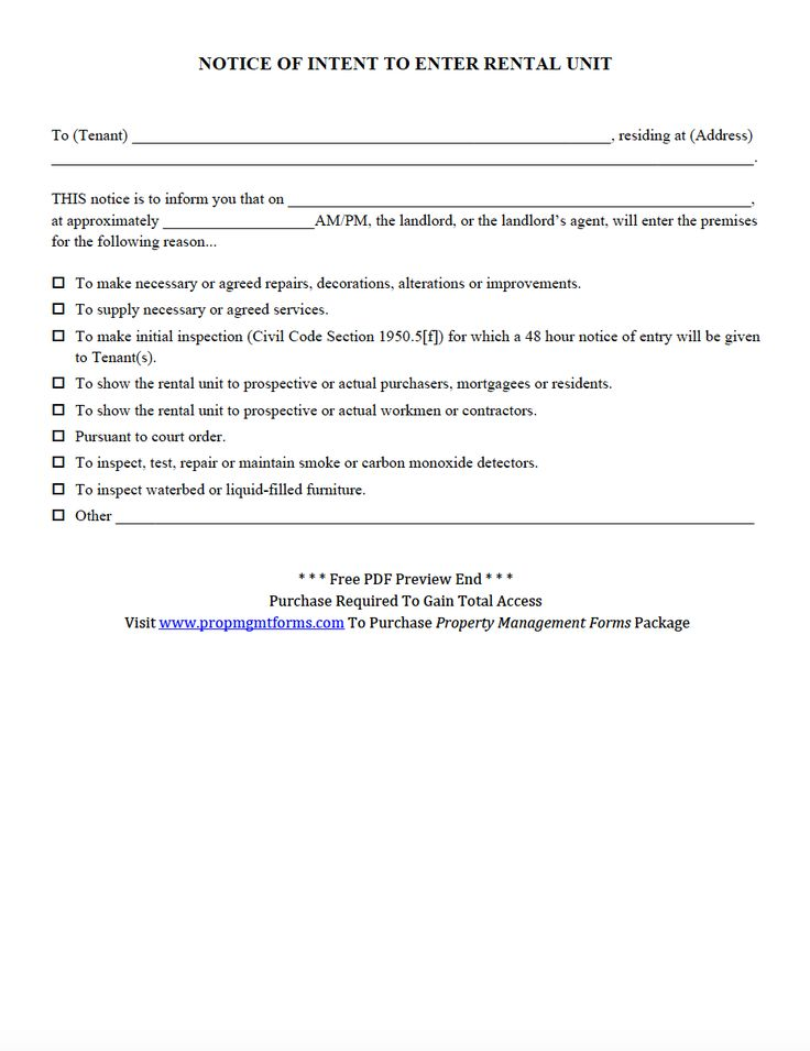46 best Property Management Forms images on Pinterest Property - property notice letter