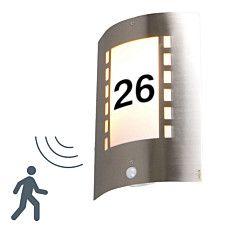 Lampa zewnętrzna Emmerald z czujnikiem ruchu i numerem domu - 91727