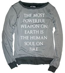 who knew such an inspirational message could come on a sweatshirt?