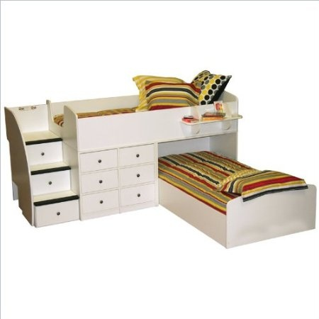 Berg Sierra Twin Over Full L Shaped Bunk Bed Bed