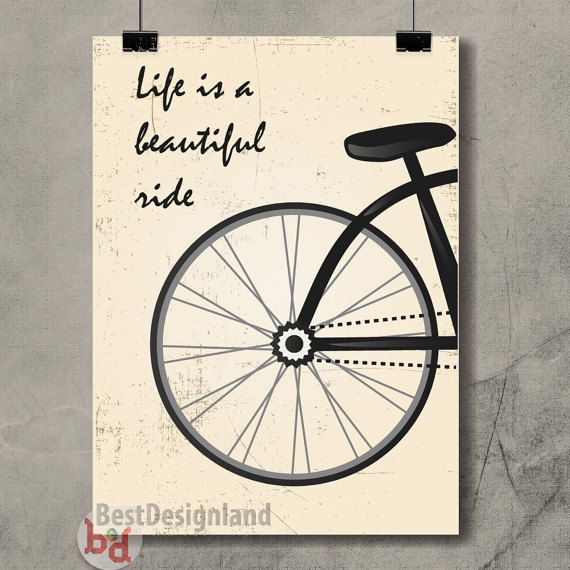 Life is a beautiful ride motivational by BestDesignland on Etsy