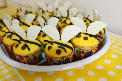 Bienenmuffins für Kinder