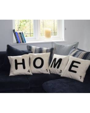 Scrabble letter cushions!! Love
