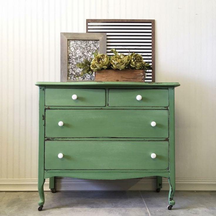 Custom Green Dresser | General Finishes