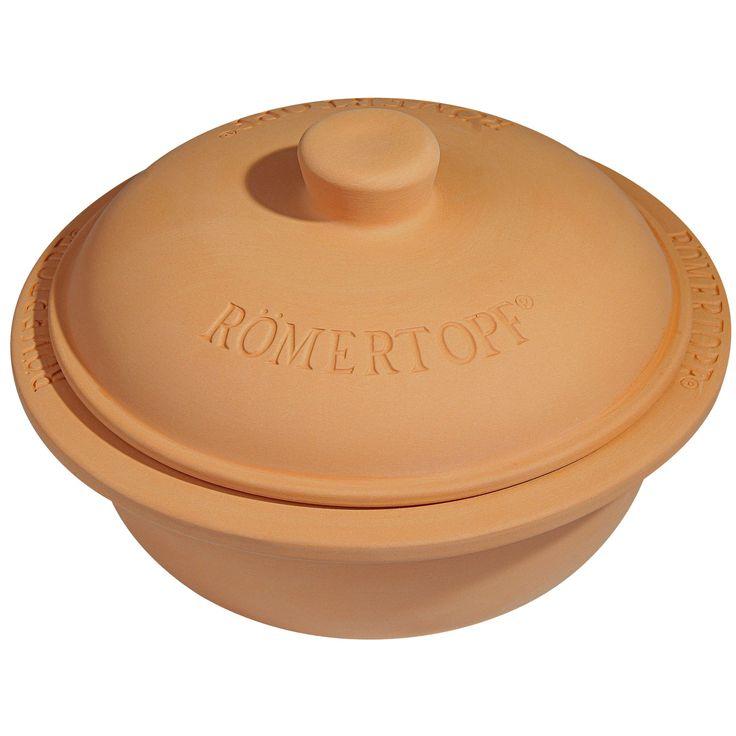 Romertopf Round Glazed Clay Baker