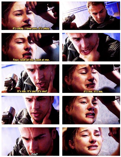 (gifset: http://divergentsource.tumblr.com/post/92539203990/four-stop-stop-stop-please-its-okay-its)