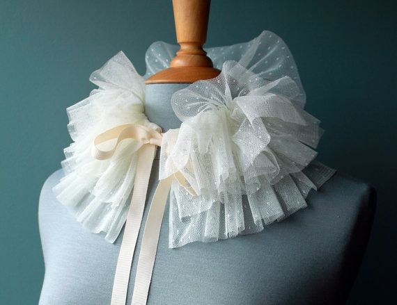 Hey, I found this really awesome Etsy listing at https://www.etsy.com/listing/182149417/beautiful-off-white-polka-dot-tulle-ruff