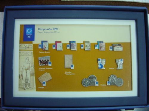 OLYMPIAD 1896 - ATHENS 2004 OLYMPIC GAMES PINS IN COLLECTIBLE FRAME