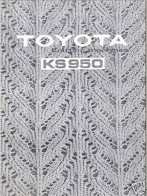 Link to Toyota Knitting Machine Instuction manual KS950